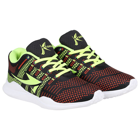 Kraasa-7074-BlackGreen-Sports-Shoes