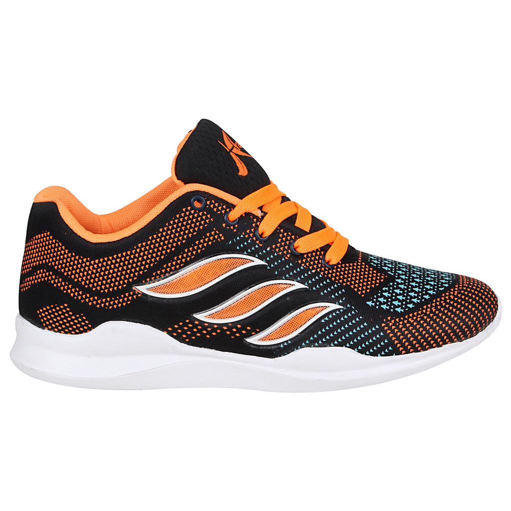 Kraasa-7073-OrangeBlack-Sports-Shoes