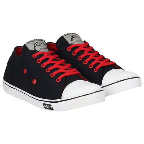 Kraasa 4186 BlackRed Casual Canvas Sneakers