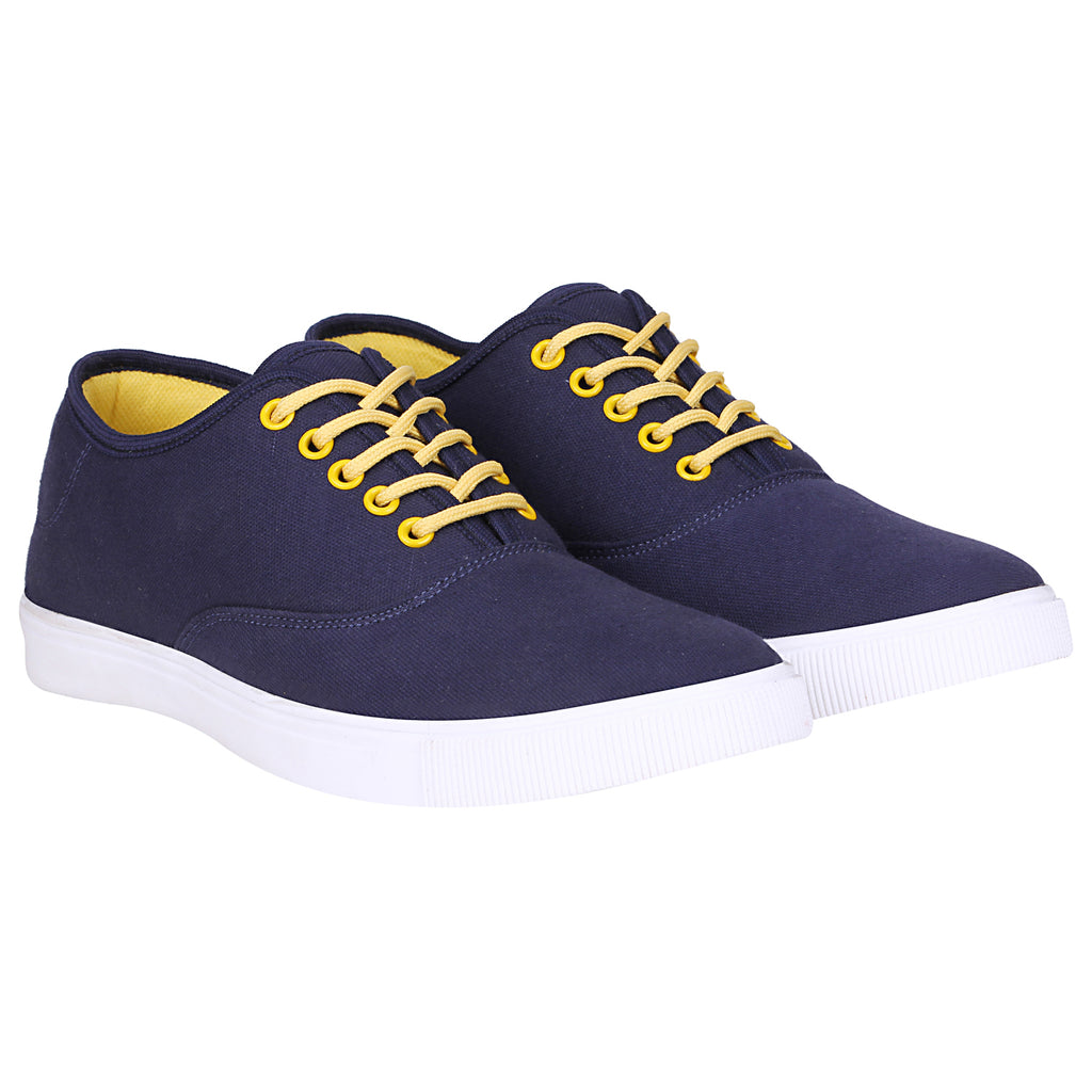 Kraasa 4182 NavyYellow  Casual Canvas Sneakers