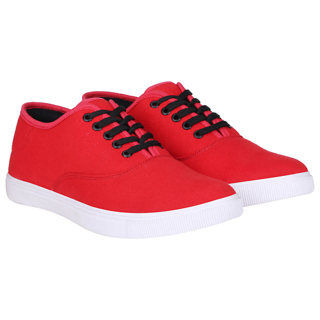 Kraasa 4182 RedBlack Casual Canvas Sneakers