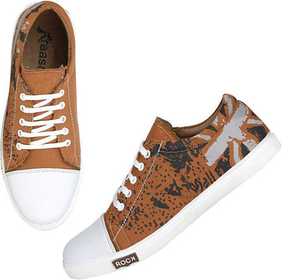 Kraasa Cruzer Sneakers For Men (Tan)