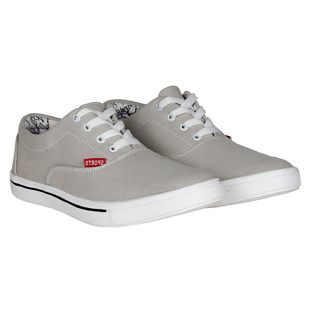 Kraasa 2512  Grey Casual Canvas  Sneakers for Men