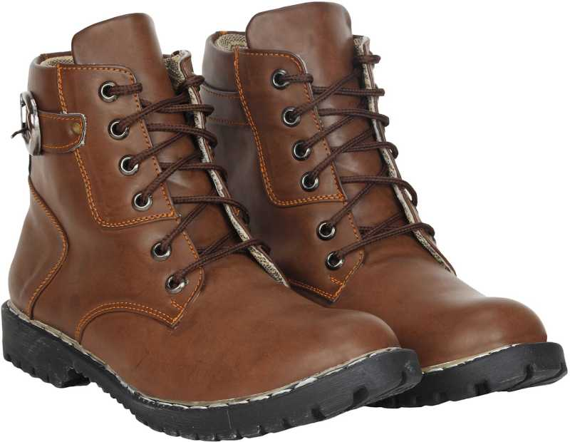 Kraasa Live Up Boots For Men (Brown)