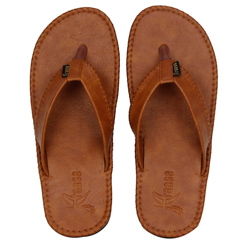 Kraasa 401 Tan Slippers