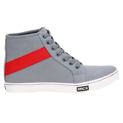 Kraasa 4084 GreyRed Canvas Shoes