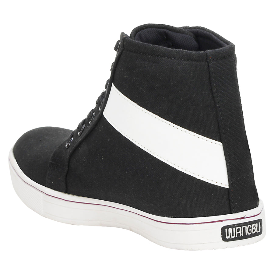 Knot n Lace 4084 BlackWhite Canvas Shoes