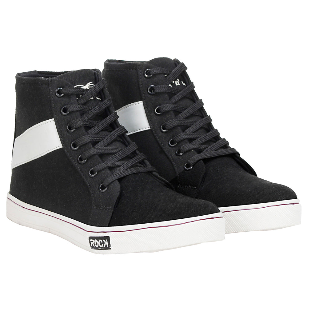 Kraasa 4084 BlackWhite Canvas Shoes
