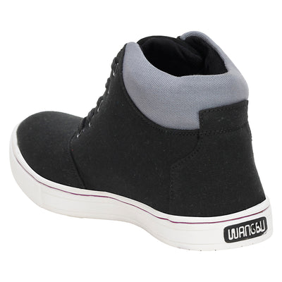Knot n Lace 4083 BlackGrey Canvas Shoes