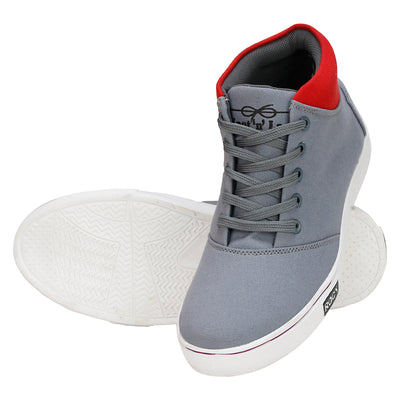 Knot n Lace 4083 GreyRed Canvas Shoes