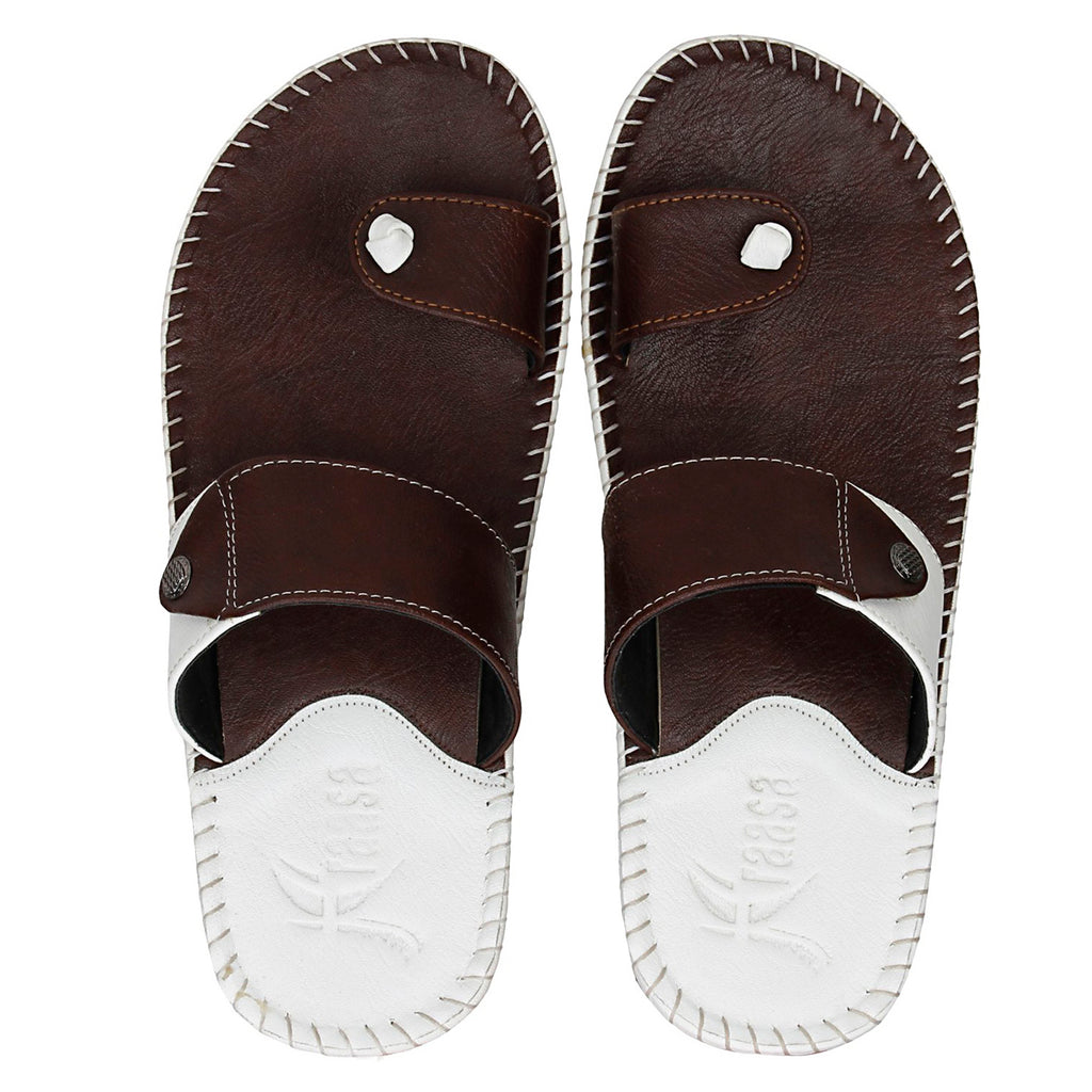 Kraasa 5147 BrownWhite Slippers