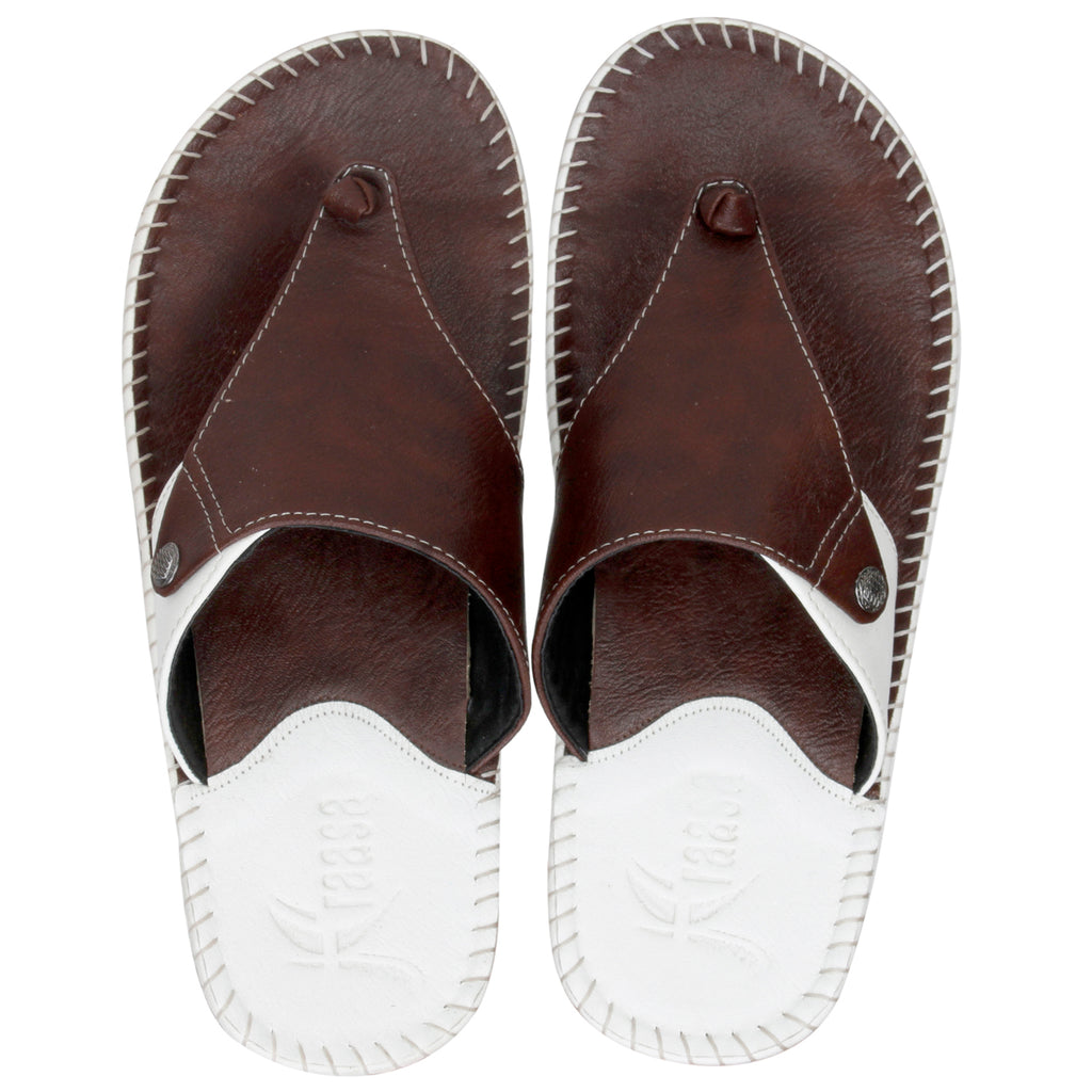Kraasa 5146 BrownWhite Slippers