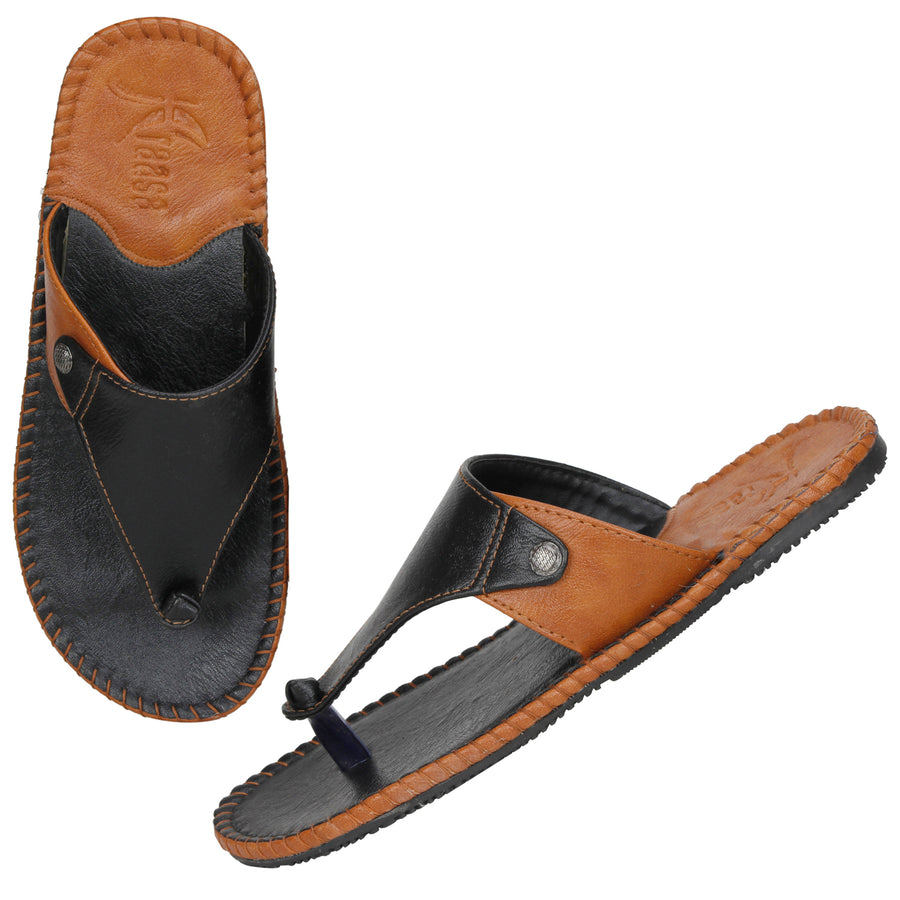 Kraasa 5146 BlackTan Slippers