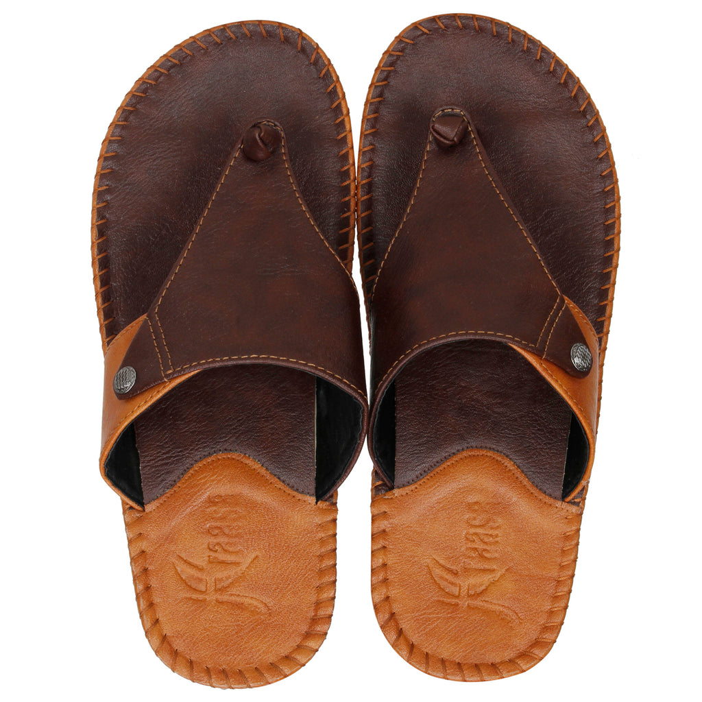 Kraasa 5146 BrownTan Slippers