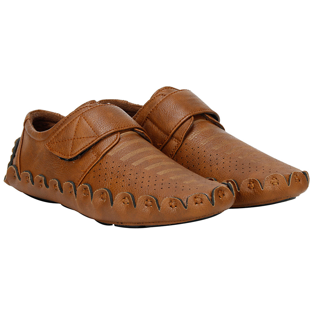 Kraasa 4086  tan Casual Loafers for Men