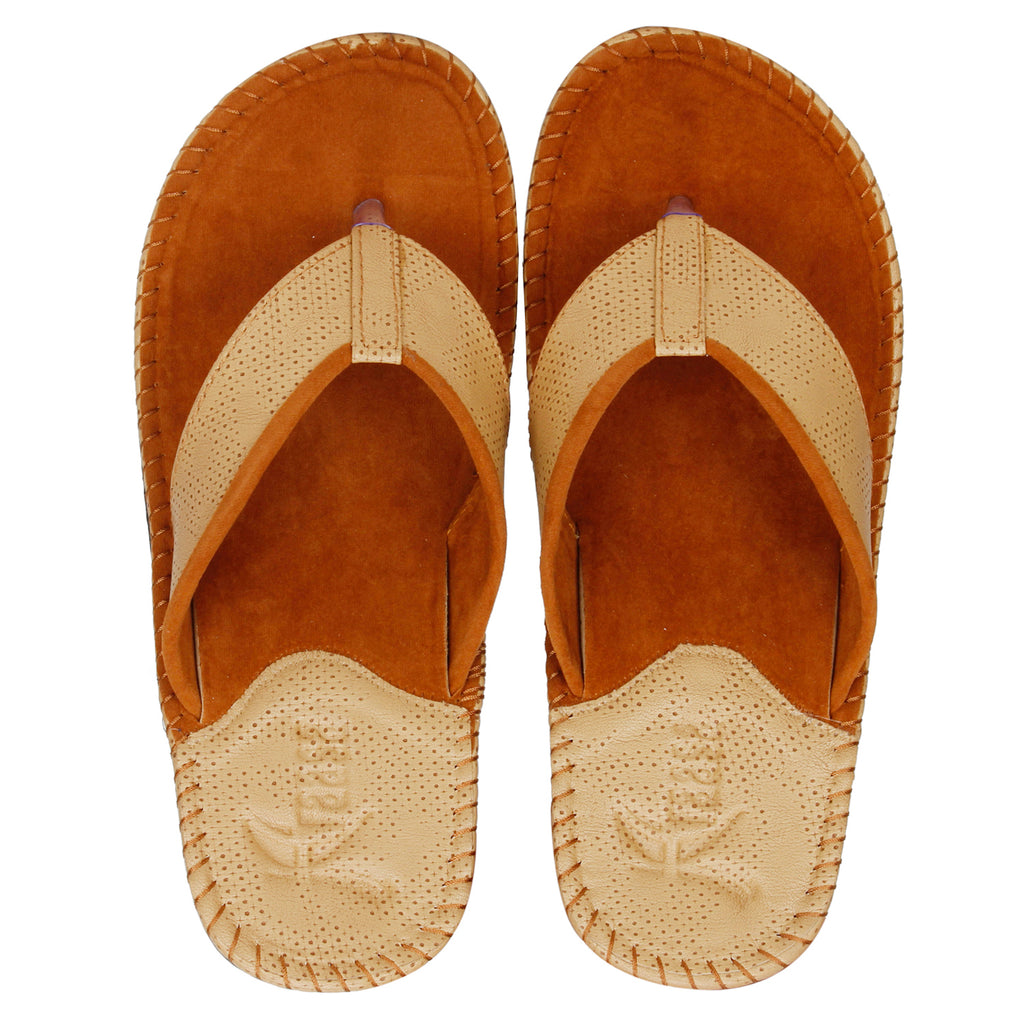 Kraasa 5138 TanCream Casual Slippers