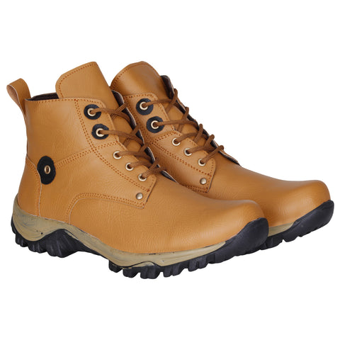 Kraasa 741 Tan Long Boots