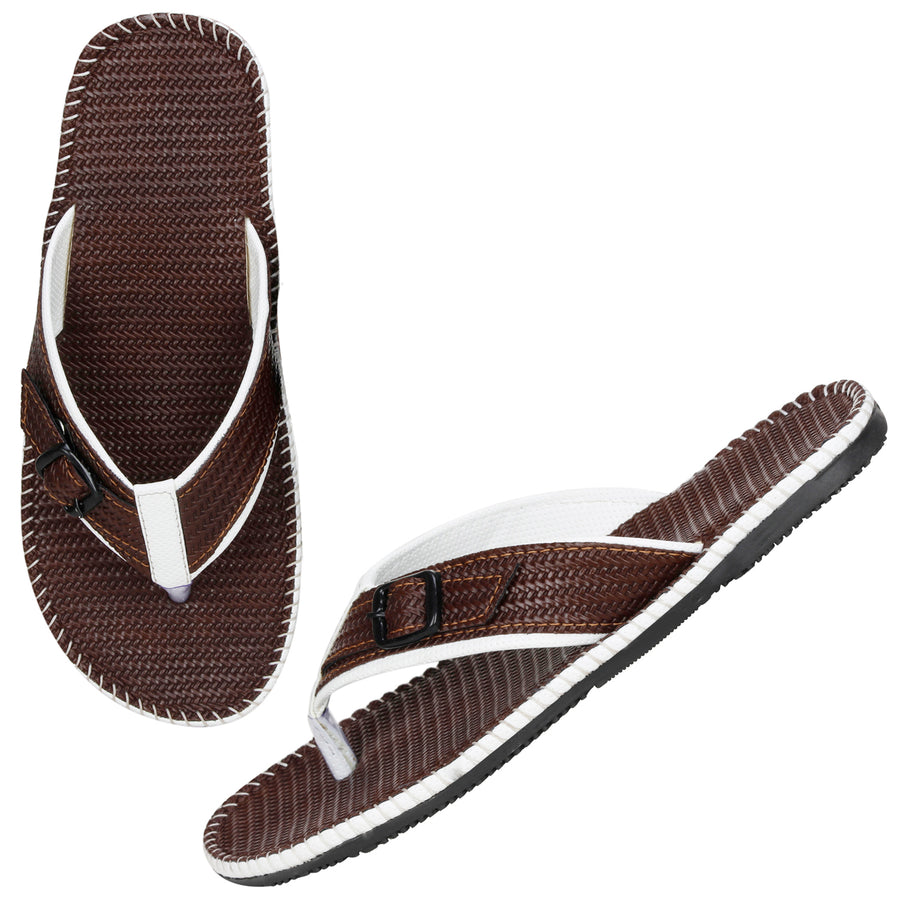 Kraasa 5144 BrownWhite Slippers