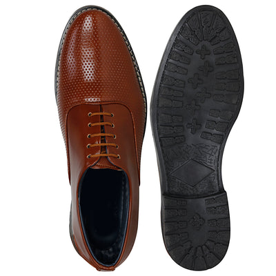 Kraasa CA4091 Tan Formal Shoes
