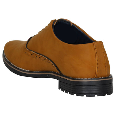Kraasa 4090 Tan Formal Shoes