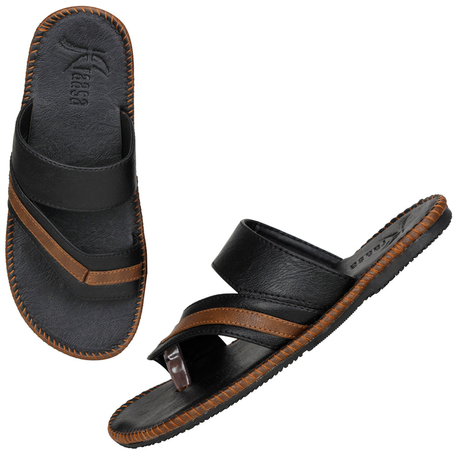Kraasa 5145 BlackCamel Slippers