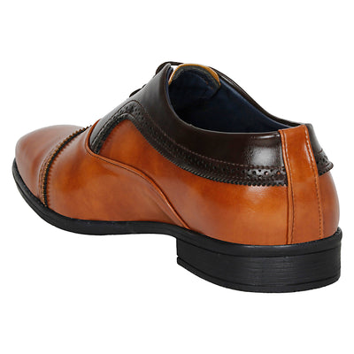 Kraasa  1052 TanBrown Formal Shoes