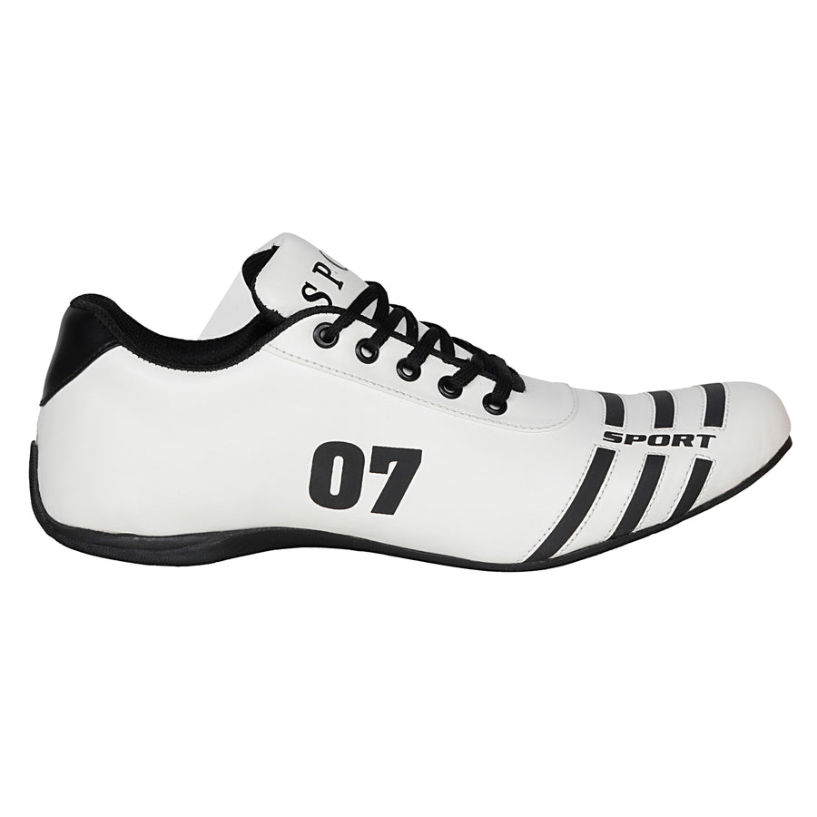 Kraasa 7018 WhiteBlack Sports Shoes