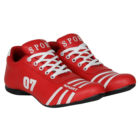 Kraasa 7018 RedWhite Football Sports Shoes