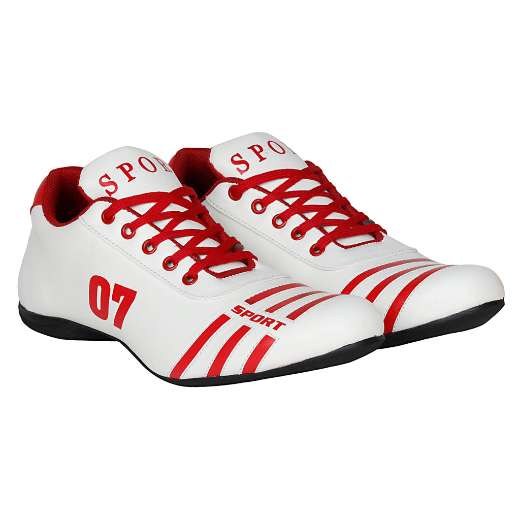 Kraasa 7018 WhiteRed Sports Shoes