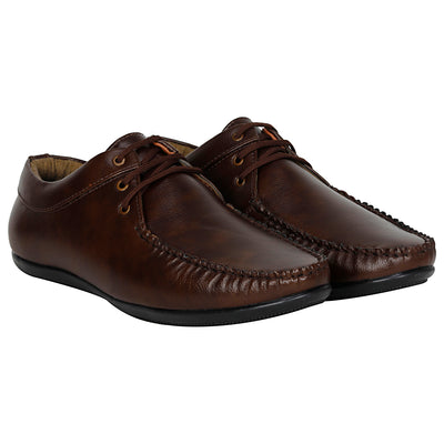 Kraasa 4052  Brown Boat Shoes