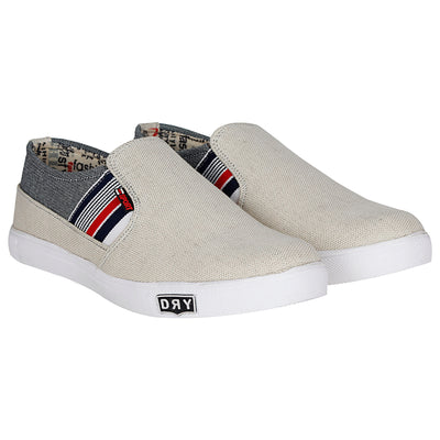 Kraasa 4101 BeigeGrey Canvas Shoes