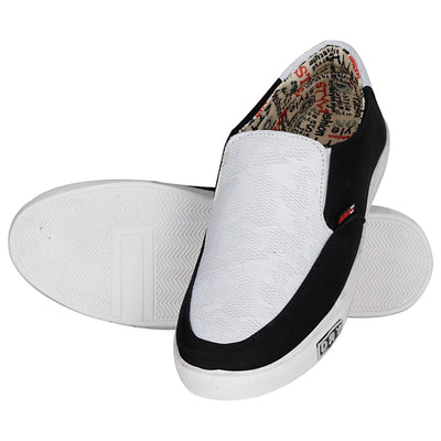 Kraasa 4102 BlackWhite Canvas Shoes