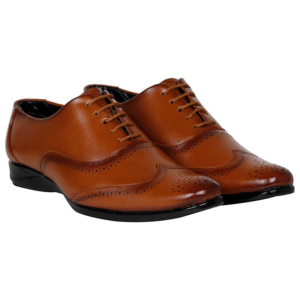 Kraasa 1076 Tan Formal Shoes