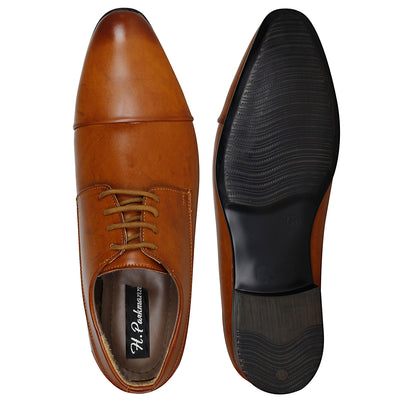 Kraasa 1041 Tan Formal Shoes