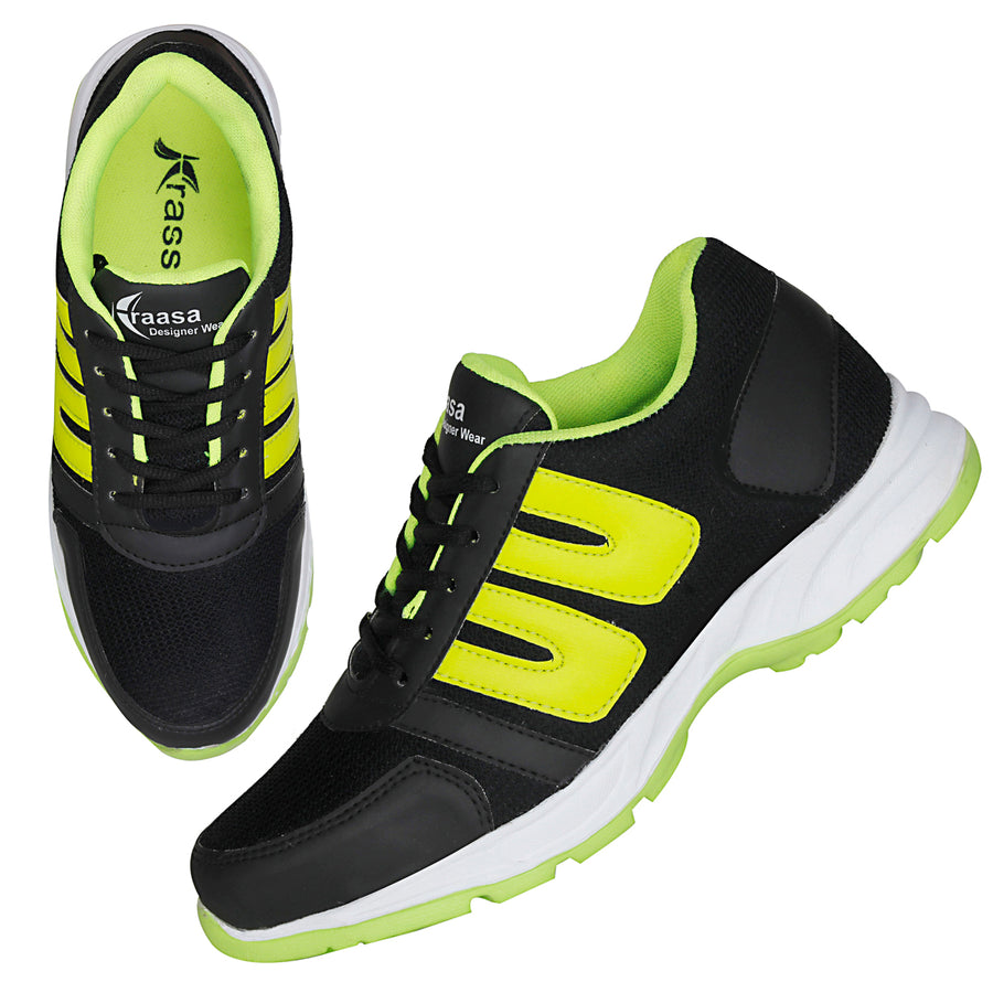 Kraasa 7040 GreyGreen Sports Running Shoes