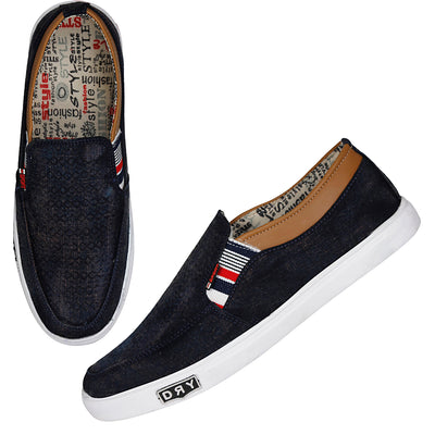Kraasa 4103 NavyTan Canvas Shoes