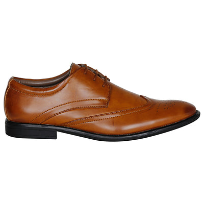 Kraasa  1042 Tan Formal Shoes