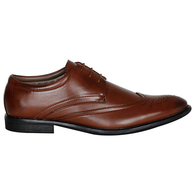 Kraasa 1042 Brown Formal Shoes