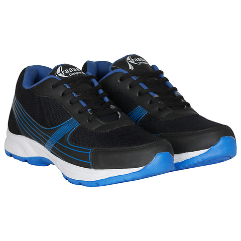 Kraasa 7042 BlackBlue Sports Running Shoes