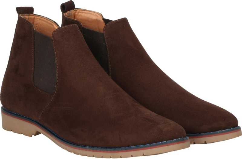 Kraasa Chelsia Boots For Men (Brown)