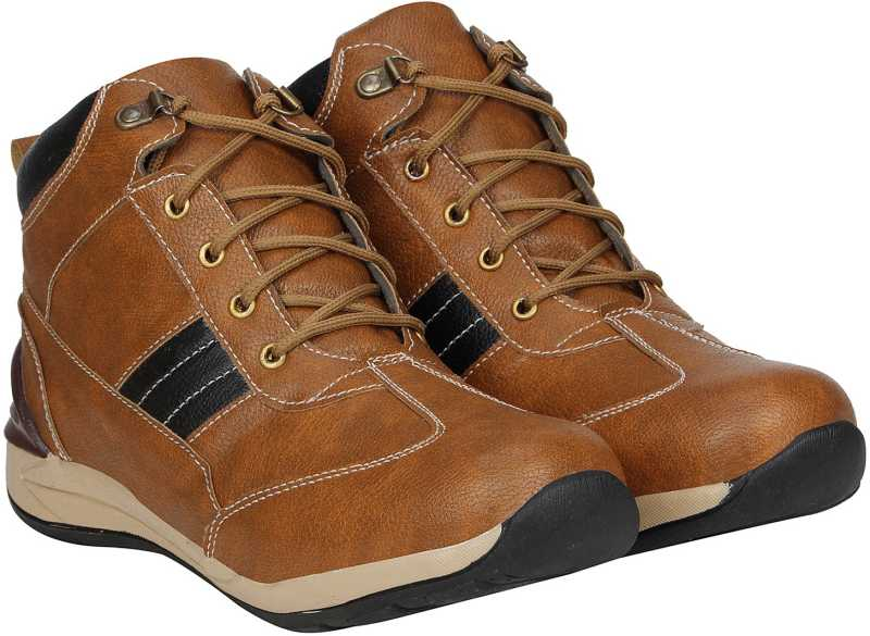 Kraasa Classic Boots For Men (Brown)