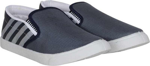 Shoe Daddy Tricky Slip On Sneakers For Men (GreyWhite)