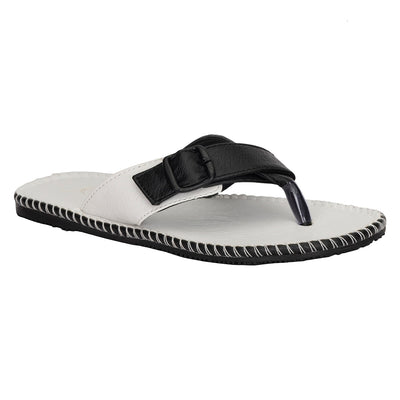 Kraasa 412-WhiteBlack Slippers