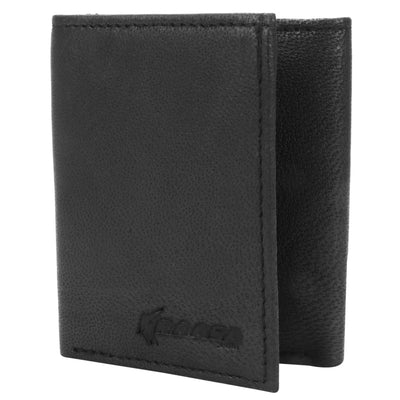 Kraasa Men Black Genuine Leather Wallet (6 Card Slots)