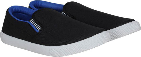 Shoe Daddy Slip On Sneakers For Men (BlackBlue)