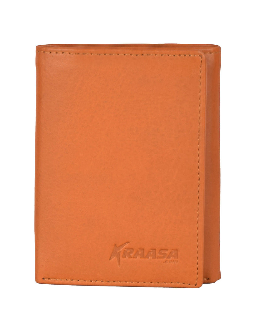 Kraasa Men Brown Genuine Leather Wallet (6 Card Slots)