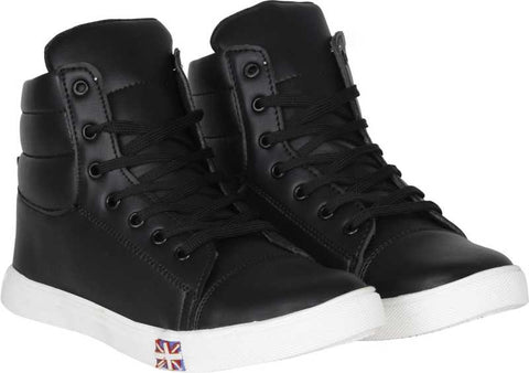 Knight Ace Tick Sneakers For Men (Black)