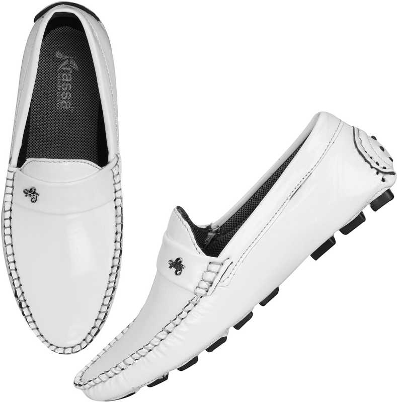 Kraasa Decent Loafers For Men (White)