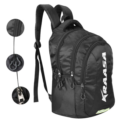 Kraasa 15 inch Laptop Backpack (Black, White)