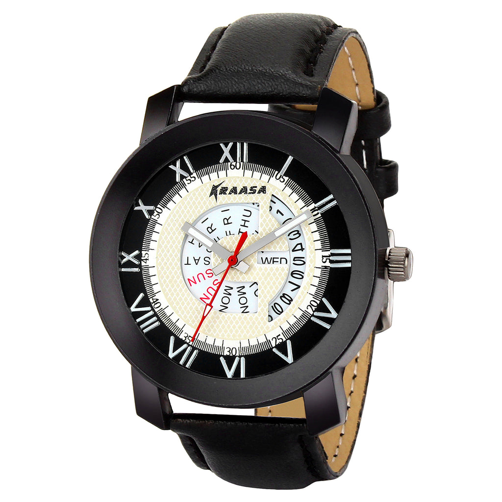 Kraasa KW2008 Day and Date Series Hybrid Watch  - For Men ()
